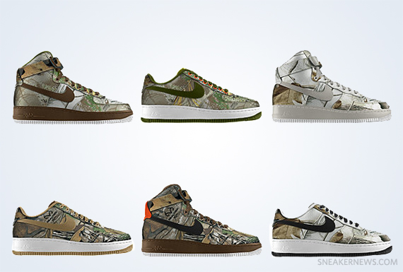 NIke Air Force 1 Realtree Camo