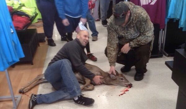 Deer Tackled in Dick's