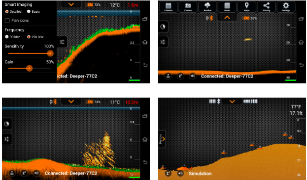 deeper fishfinder app, Fish Finder