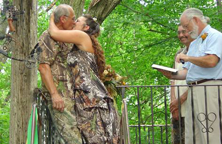 Camo Wedding Picture