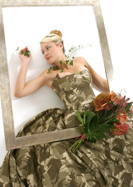 Elegant Camo Wedding photo