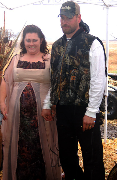 Camo Bride and Groom
