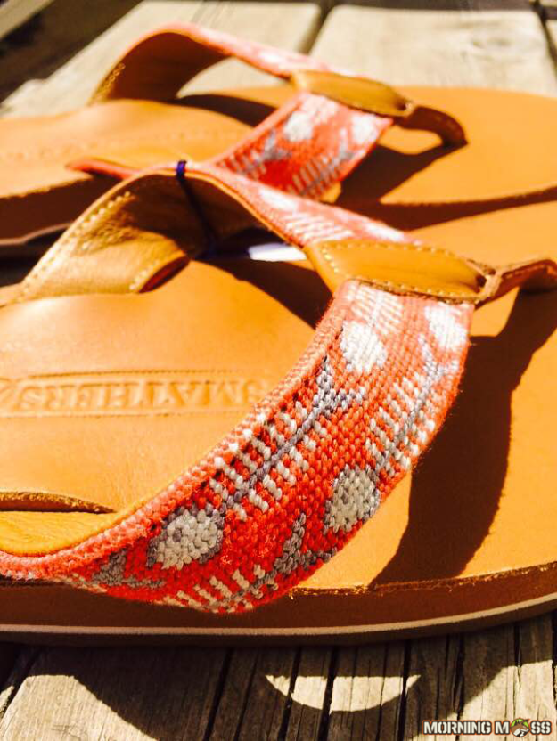 Bonefish Needlepoint Flip Flops